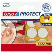 Tesa vilt diameter 22 mm rond wit 12 stuks