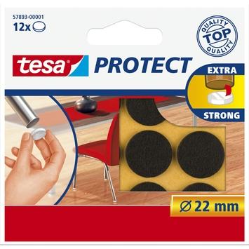 Tesa vilt diameter 22 mm rond bruin 12 stuks