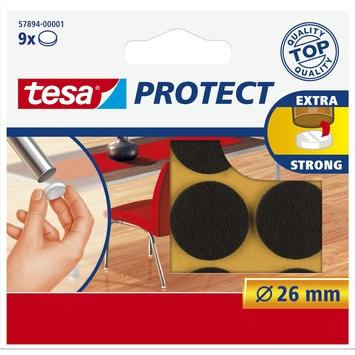 Tesa vilt diameter 26 mm rond bruin 9 stuks