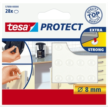 Tesa geluiddempers 8 mm transparant 28 stuks