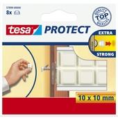 Tesa beschermblokjes 10x10 mm wit 8 stuks