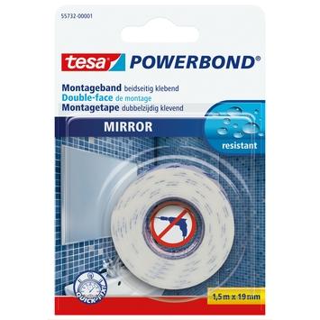 Tesa Powerbond montagetape spiegels 19 mm 1,5 meter wit