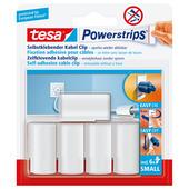 Tesa Powerstrip kabelclip mini wit 5 stuks