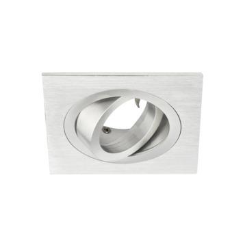 GAMMA inbouwspot richtbaar vierkant aluminium