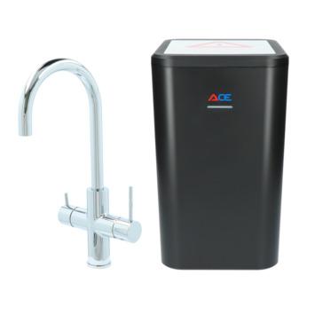 Handson kokendwaterkraan Ace met hendel Chroom Incl. 4 liter kokend water boiler