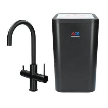 Handson kokendwaterkraan Ace met hendel Zwart incl. kokend water boiler