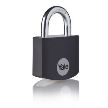Yale Hangslot aluminium 32 mm zwart