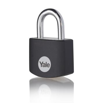 Yale Hangslot aluminium 25 mm zwart
