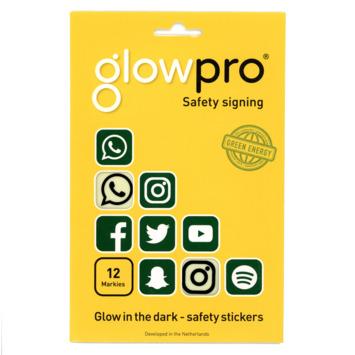 GlowPro safety sticker icoon