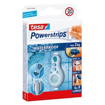 Tesa Plakstrip Powerstrip Waterproof Groot - 6 Stuks