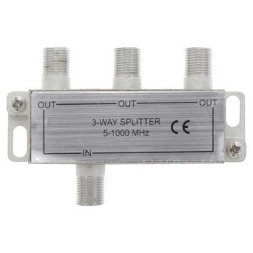 Q-Link coax F-splitter 3-weg/4F-connector
