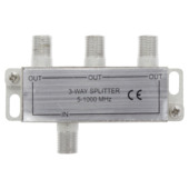 Q-Link coax F-splitter 3-weg/4F-connector