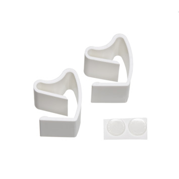 Klemsteun wit voor 16/25mm horizontale jaloezieën tbv draai/kiep raam
