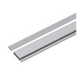 Decoratieve onderlat aluminium zilver 87.5cm