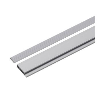 Decoratieve onderlat aluminium zilver incl. afwerkdopjes 207,5 cm
