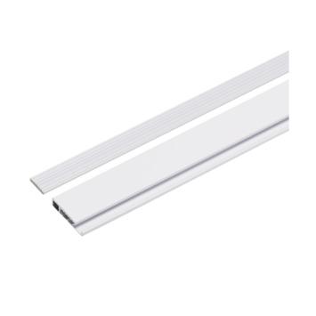 Decoratieve onderlat aluminium wit incl. afwerkdopjes 117,5 cm