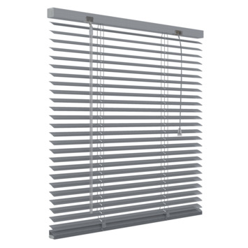 GAMMA horizontale jaloezie geperforeerd aluminium 25 mm 5014 zilver 100x130 cm