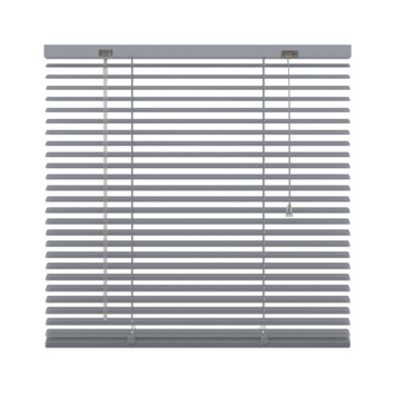 GAMMA horizontale jaloezie geperforeerd aluminium 25 mm 5014 zilver 120x250 cm