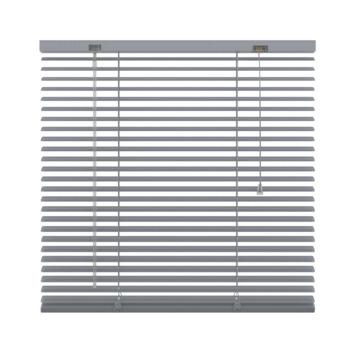 GAMMA horizontale jaloezie geperforeerd aluminium 25 mm 5014 zilver 240x250 cm