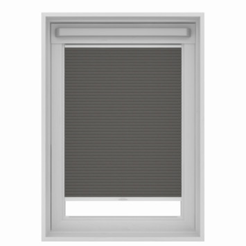 GAMMA dakraam plissé verduisterend 7101 grijs 78x118 cm