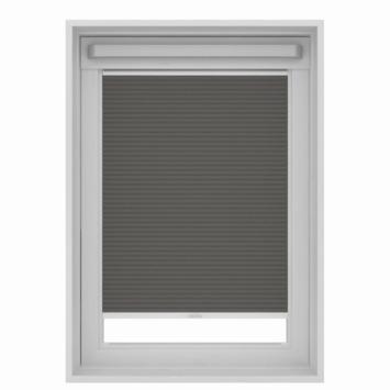 GAMMA dakraam plissé verduisterend 7101 grijs 78x140 cm