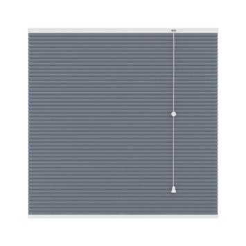 GAMMA plissé dupli verduisterend 25 mm 6019 grijs 140x180 cm