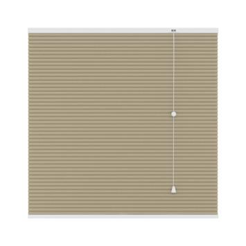 GAMMA plissé dupli verduisterend 25 mm 6021 zand 120x180 cm