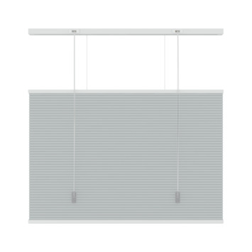 GAMMA plisse duo top down bottum up lichtdoorlatend 6006 lichtgrijs 160x220
