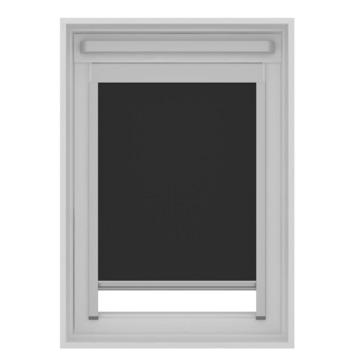 GAMMA dakraam rolgordijn met cassette tbv Fakro verduisterend 7005 zwart 55x78 cm