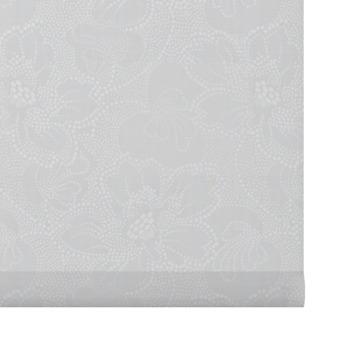 GAMMA rolgordijn dessin lichtdoorlatend 2341 wit bloem 60x190 cm