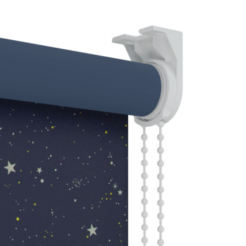 GAMMA rolgordijn dessin verduisterend 1449 donkerblauw ster 60x190 cm