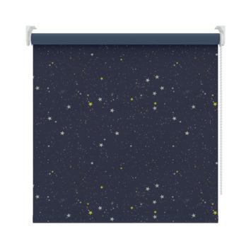 GAMMA rolgordijn dessin verduisterend 1449 donkerblauw ster 210x190 cm
