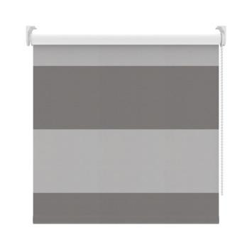 GAMMA rolgordijn dessin verduisterend 2272 banen antraciet/grijs 150x190 cm