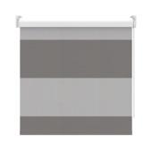 GAMMA rolgordijn dessin verduisterend 2272 banen antraciet/grijs 210x190 cm