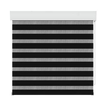 GAMMA roljaloezie lichtdoorlatend 4304 zwart 120x160 cm