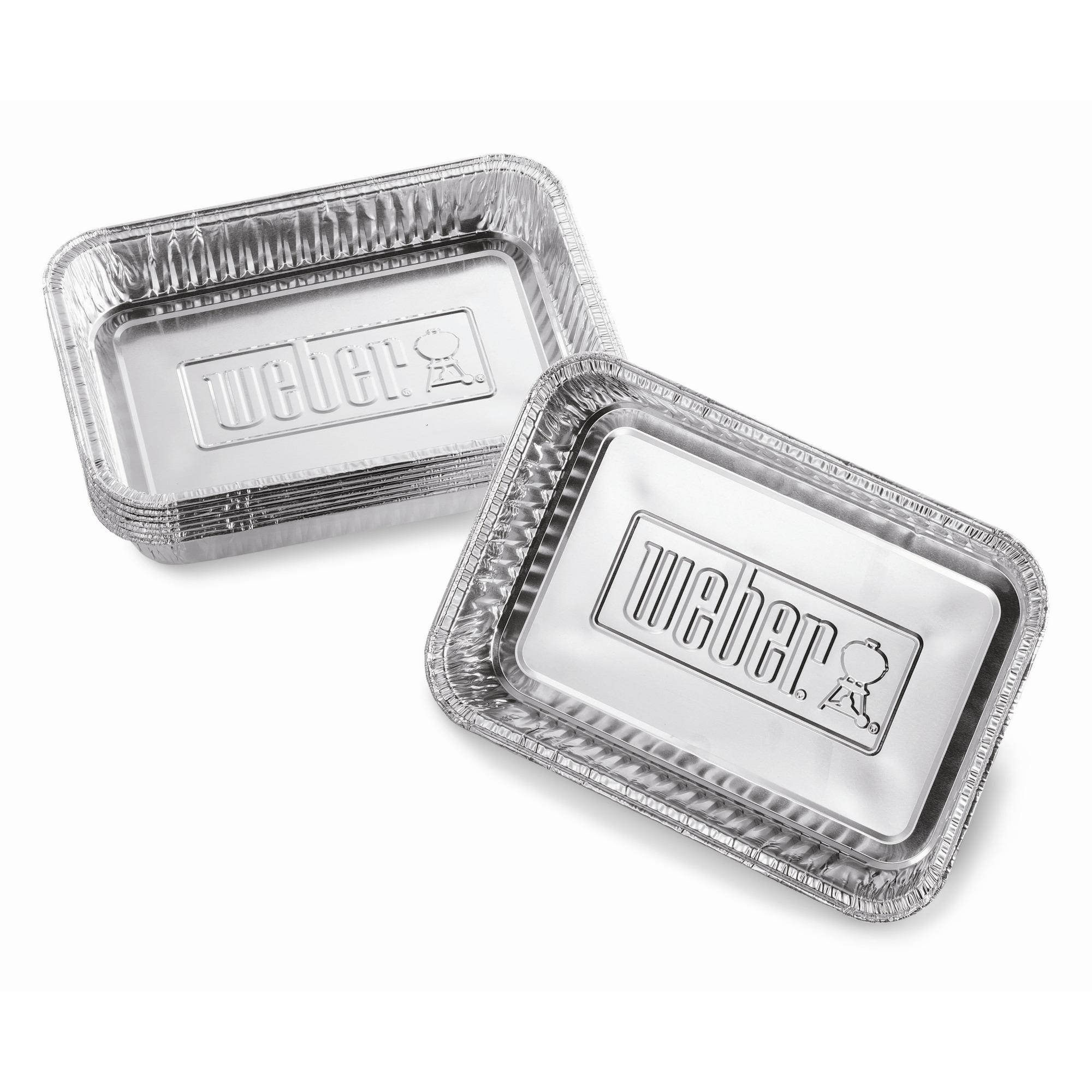 Weber lekbakjes klein aluminium