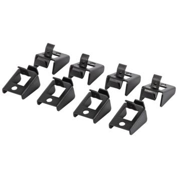 Storage reserve clips zwart set van 8