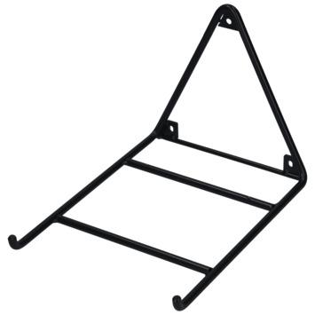 Plankdrager enkel staal zwart 5mm 24x26,5cm