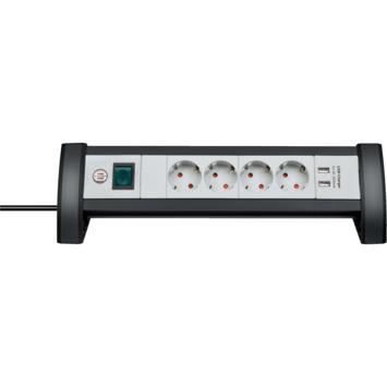 Premium-Office-Line stekkerdoos USB 4-voudig 1,8m