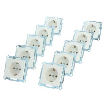 Merten System-M voordeelpack inbouw stopcontact 10 stuks