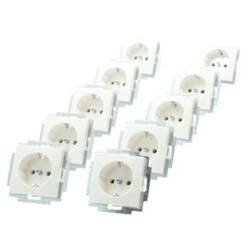 Busch-Jaeger Balance SI Voordeelpack Enkel Geaard Stopcontact 10 stuks Wit