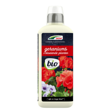 DCM Vloeibare Voeding Geraniums & Bloeiende Planten BIO 800ml