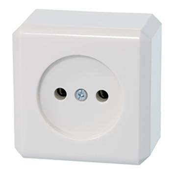 Schneider Electric Merten Contura Opbouw wandcontactdoos enkel wit
