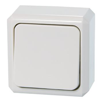 Schneider Opbouw Wisselschakelaar Wit