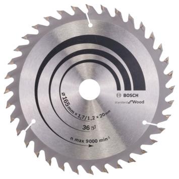 Bosch cirkelzaagblad optiline tbv hout 165x20 36 tands