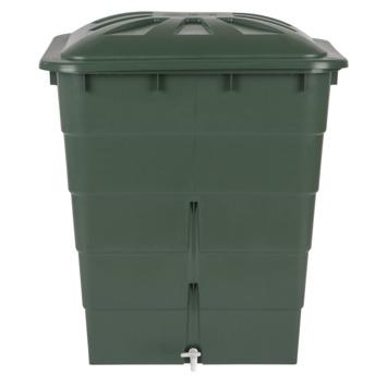 Garantia Regenton rechthoekig groen 300 Liter met kraantje
