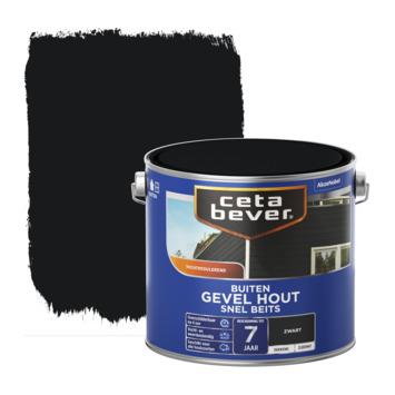 Cetabever dekkend snel beits gevel hout zwart zijdemat 2,5 L