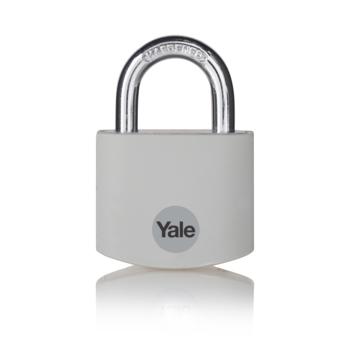 Yale Hangslot aluminium 38 mm grijs