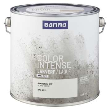 GAMMA color intense binnenlak mat 2,5 L RAL 9010