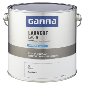 GAMMA binnenlak zijdeglans 2,5 L wit